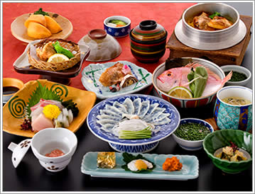 山口県 下関市のふぐの老舗 ふく処 喜多川 ふぐコース料理 恵比寿さま