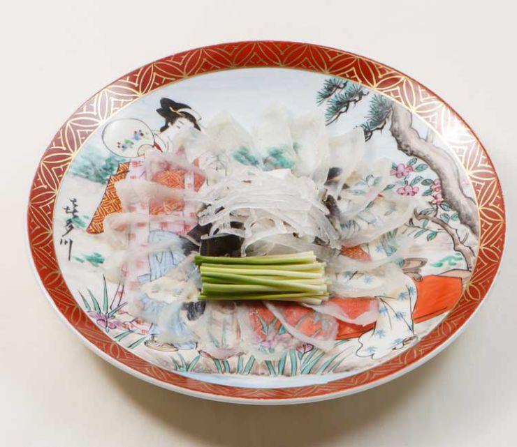 山口県 下関市のふぐの老舗 ふく処 喜多川 ふぐ一品料理 ふく刺し(天然)