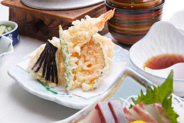 下関市のランチ | ふぐ処 喜多川の天刺御膳 | 天ぷら