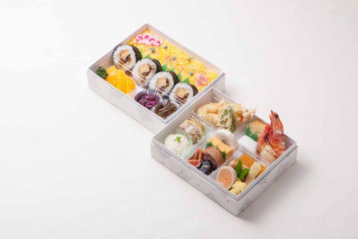 山口県下関市の仕出し 行楽弁当 喜多川 箱折詰 すずらん