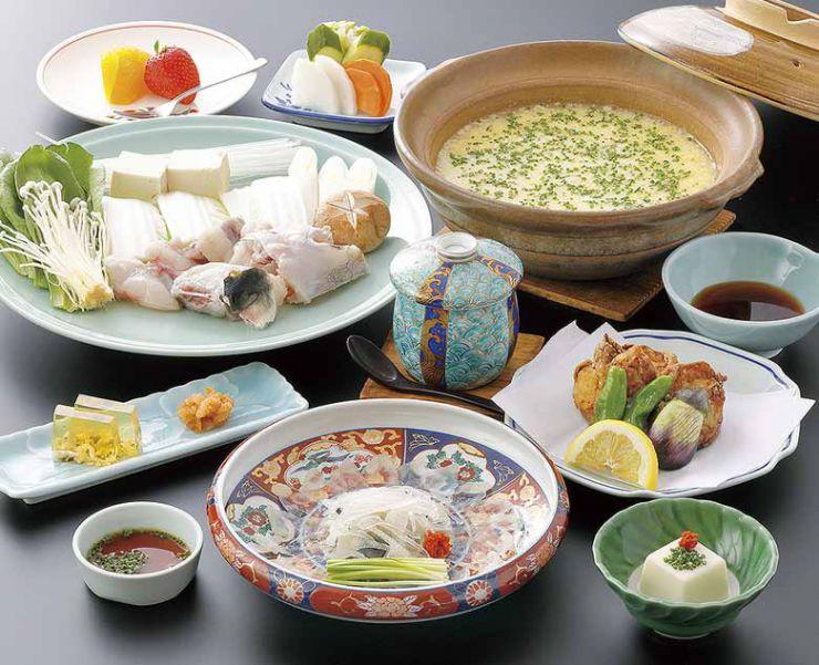 山口県 下関市のふぐの老舗 ふく処 喜多川 ふぐコース料理 ふく姫コース