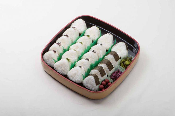 山口県 下関市の法事・法要料理 仕出し おにぎりの盛り合わせ かえで