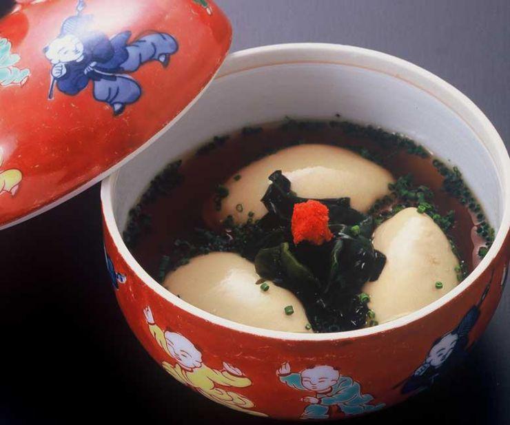山口県 下関市のふぐの老舗 ふく処 喜多川 ふぐ一品料理 白子ポン酢煮